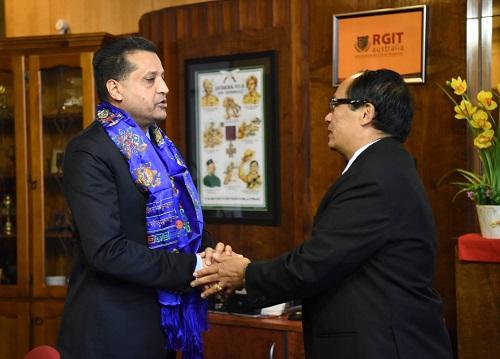 Poet Basant Chaudhary visits Nepal Consulate